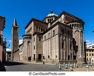 Parma Cathedral in Parma, Italy - Parma Cathedral built in...