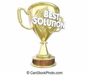 Best Solution Problem Solved Idea Trophy Award 3d...