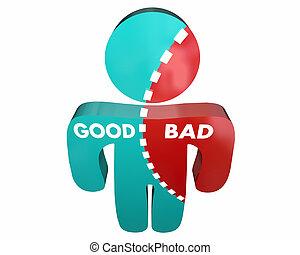 Good Vs Bad Person Percent Character Integrity 3d...