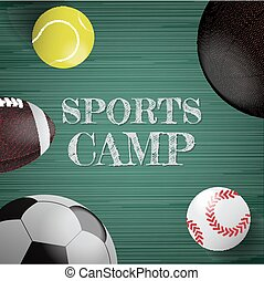 Sports equipment vector background