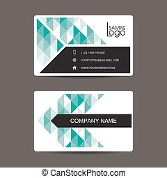 New modern simple light business card template with flat...