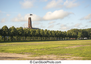 Overview of City Park Malieveld in the Hague, the...