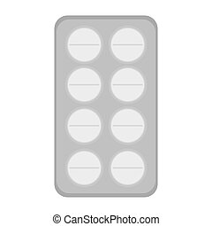 pack of medicine tablets icon