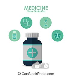 medicine icon. Medical and Health care design. Vector graphic
