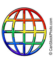 gay world - a representation of gay world isolated on a...