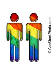 gay love - a heart with rainbow flag symbolizing gay love