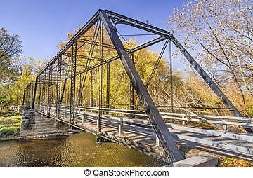 Furnas Mill Iron Bridge - Built in 1885, the Furnas Mill...