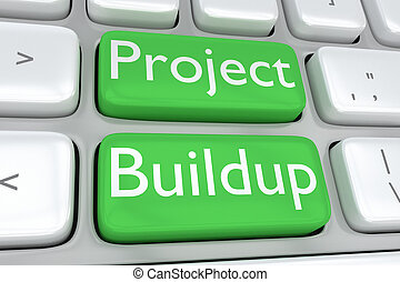 Project Buildup - project concept - 3D illustration of...