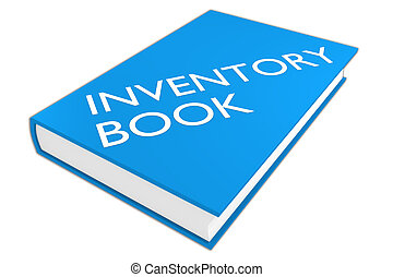 Inventory Book concept - 3D illustration of 'INVENTORY BOOK'...