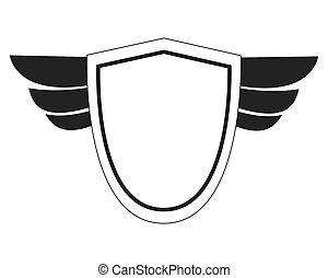 shield with wings icon