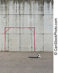 Soccer ball in the city