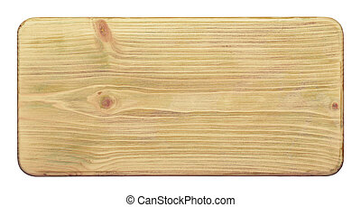 Rustic wood texture - Isolated wooden board with scratches...