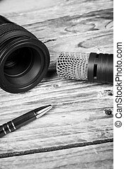 Journalism - Still life with objects related to journalism