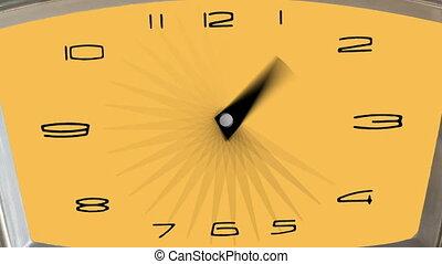 macro - hyperlapse of a clock - timelapse.