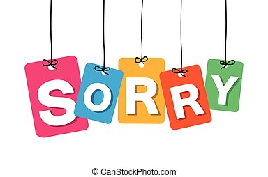 Vector colorful hanging cardboard Tags - sorry on white...