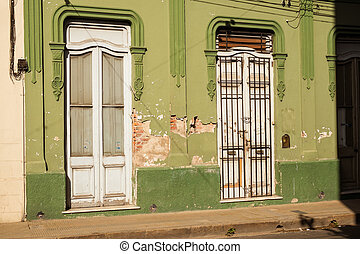 Salta old town house - Crumbling facades on colonial...