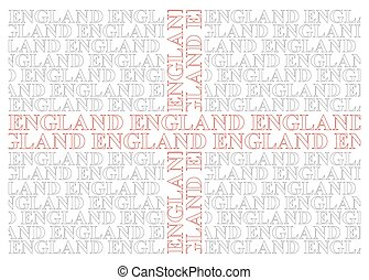 England Text Flag - England flag constructed from UK text...
