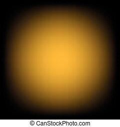 Yellow Gold Black Gradient Blur Empty Space Background.