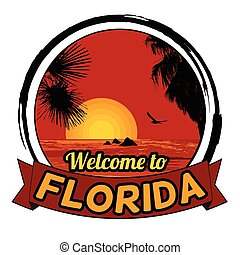 Welcome to Florida sign - Welcome to Florida concept in...