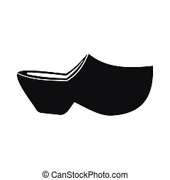 Clogs icon, simple style - Clogs icon in simple style...