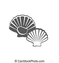 Oysters Vector Illustration - Oysters in monochrome variant...
