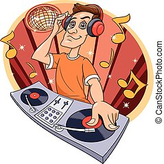 Dj playing music in club