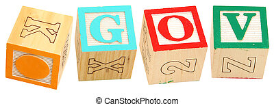 Alphabet Blocks GOV - Colorful alphabet blocks spelling the...