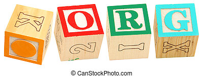 Alphabet Blocks ORG - Colorful alphabet blocks spelling the...