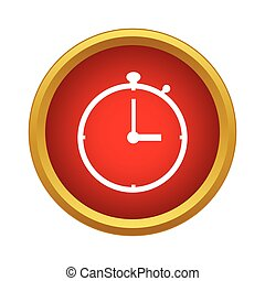 Stopwatch icon in simple style - icon in simple style on a...