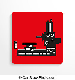 Industrial equipment. Machine. - Conditional vector image on...