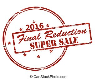 Final reduction super sale - Rubber stamp with text final...