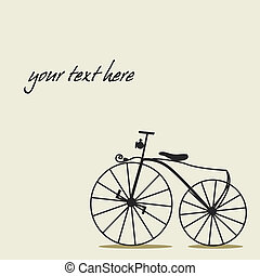Simple background with a bicycle with place for your text