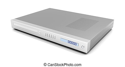 DVD Player - 3D rendered Illustration. Isolated on white.