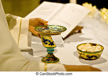 Symbols of religion : bread and wine - The wine and the...