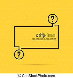 Question mark blank template. Help symbol. FAQ sign icon....
