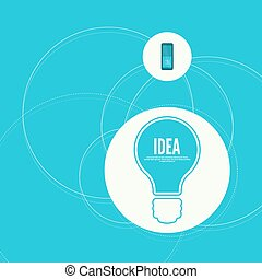 Bulb light idea with switch. concept of big ideas...