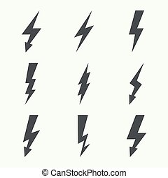 Abstract background with electric lightning. - Vector set of...