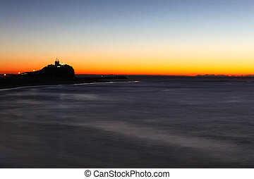 Nobbys Lighthouse at Dawn Newcastle Australia - Nobbys...