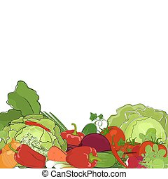 Fresh Raw Vegetables, Eco Vegetables, Healthy Food Concept,...