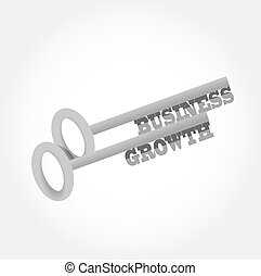 business growth key concept illustration design graphic