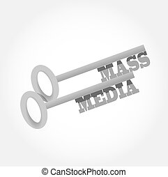 mass media key concept illustration design graphic