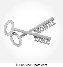 money time key concept illustration design graphic
