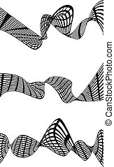 Abstract black wave isolated on white background. Vector...