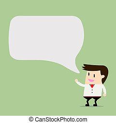 Businessman Discussion Cartoon Vector Illustration