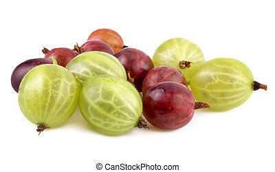 red green gooseberries