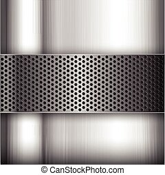 Polished steel texture on hold metal abstract background vector illustration