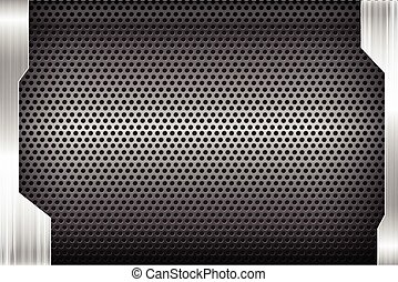 Polished steel texture on hold metal abstract background vector illustration 006