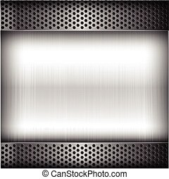 Polished steel texture on hold metal abstract background vector illustration 004