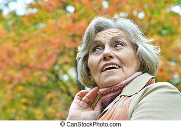 surprised senior woman - Portrait of surprised senior woman...