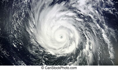 """Giant hurricane seen from the space"" - ""Animation of Giant..."